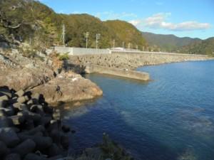 三重県紀伊長島赤岩放水路