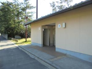 島根県出雲市大社港近くの稲佐の浜トイレ 釣り場サイトFISH&MAPS